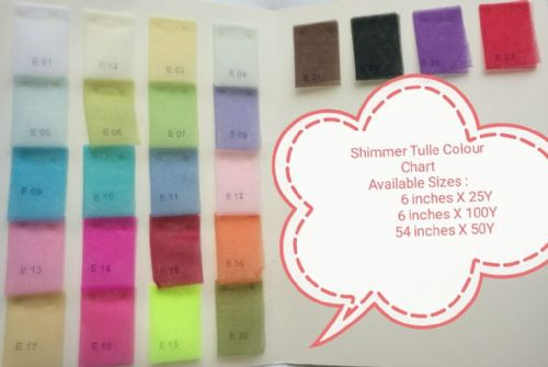 Tulle Roll | Shimmer Tulle Color Chart